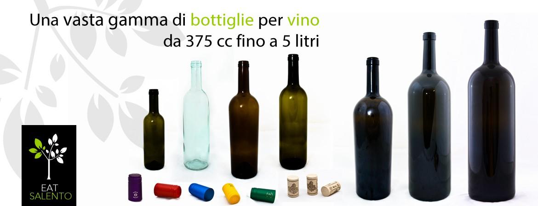 Una vasta gamma di bottiglie per vino da 375 cc fino a 5 litri