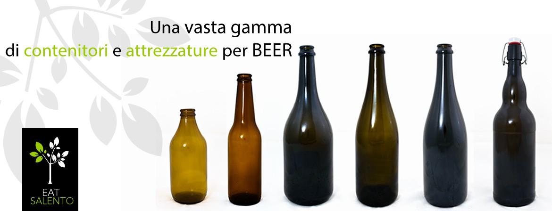 Una vasta gamma di contenitori e attrezzature per birra.