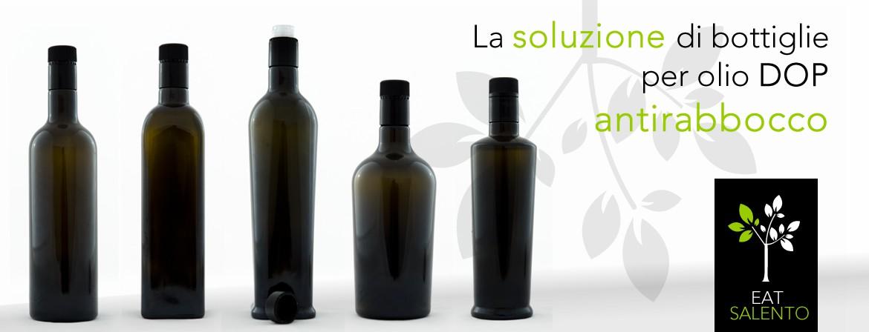La soluzione di bottiglie per olio DOP atirabocco