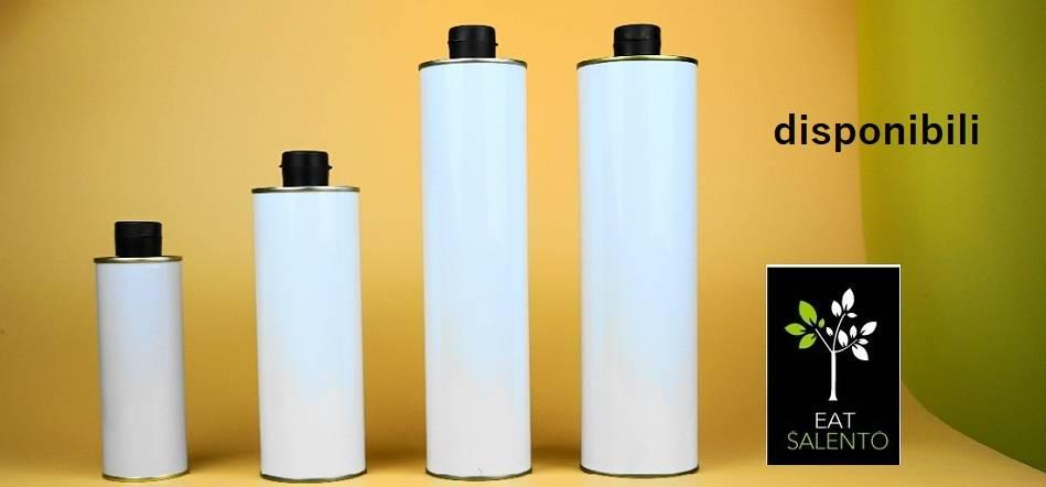 Nuove lattine tonde per olio con tappo antirabocco